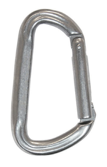 Stainless steel asymmetrical snap hooks photo