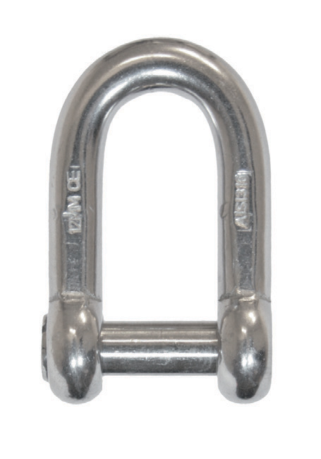 "Stainless steel ""D"" shackles with flat head pin photo"