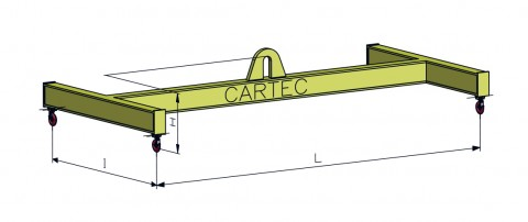 Trave di sollevamento Cartec schema